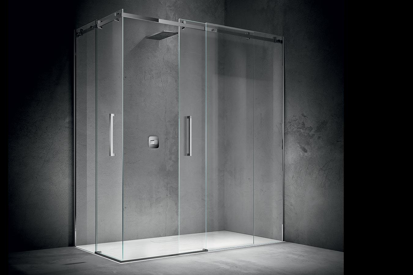 Box doccia igan style - Porta scorrevole doppia ...