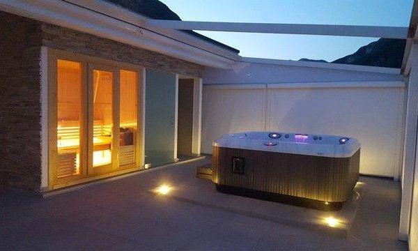 sauna vintage da esterno