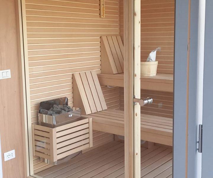 sauna e casetta